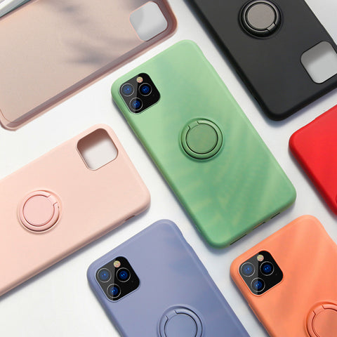 Xiaomi Mi  Silicone Multicolor Case with Rotating Ring Holder