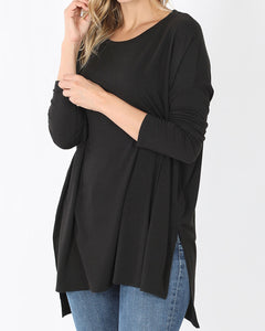 Cozy and Soft Premium Jersey Oversized Boxy Long Sleeve Top