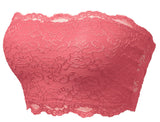 Strapless Lace Bandeau Bra Tube Top