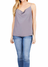 Load image into Gallery viewer, Cowl Drape Neck Thin Strap Cami Top