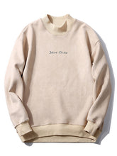 Load image into Gallery viewer, Chest Letter Print Solid Color Suede Sweatshirt