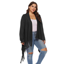Load image into Gallery viewer, Irregular Tassel Cardigan Long Coat