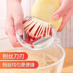 Three- in- One Peeler Slicer Stainless Steel Kitchen Tool