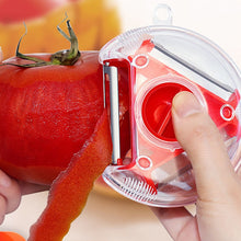 Load image into Gallery viewer, Three- in- One Peeler Slicer Stainless Steel Kitchen Tool