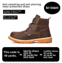 Load image into Gallery viewer, Safety Anti-Puncture  Men's Safety Boot