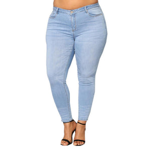 Plus Size Women high waist jeans