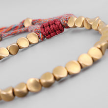 Load image into Gallery viewer, Handmade Braided Cotton Copper Beads  Rope Bracelet