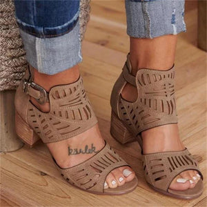 Mid Heel Ankle Slip On Shoe for Women