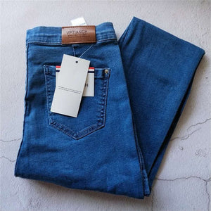Vintage High Waist Denim Jeans for Women