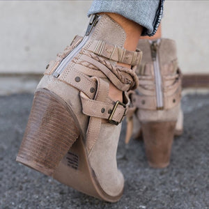 Buckle Strap Women Ankle Boot