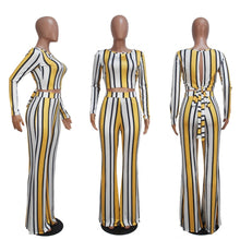 Load image into Gallery viewer, Striped Print 2-Piece Set for Women