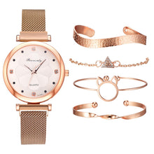 Load image into Gallery viewer, Quartz Wrist Watch Bracelet 5pc. Set