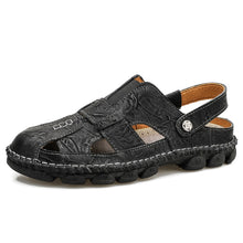 Load image into Gallery viewer, Genuine Leather Men Sandals