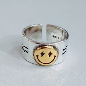 Smiley Face adjustable Ring