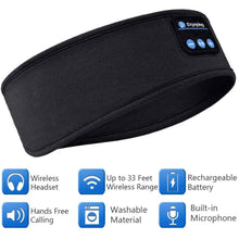 Load image into Gallery viewer, Bluetooth Headband,/ Soft Sleeping Wireless Sleeping Headsets