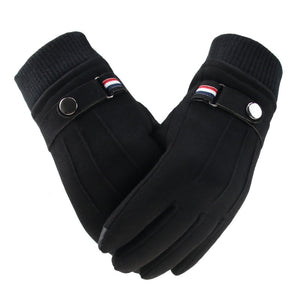 Men's Winter Touch Screen Sensitive Suede Gloves