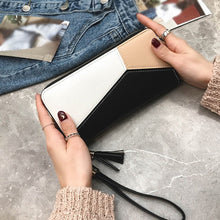 Load image into Gallery viewer, Women Fashion Tassel Patchwork Wallet