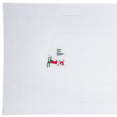 Skiers<br>Table Runner - White Cotton