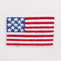 American Flag<br>Hand Towel - White Cotton