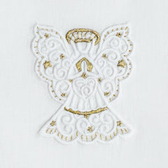 Angel White & Gold<br>Hand Towel - White Cotton