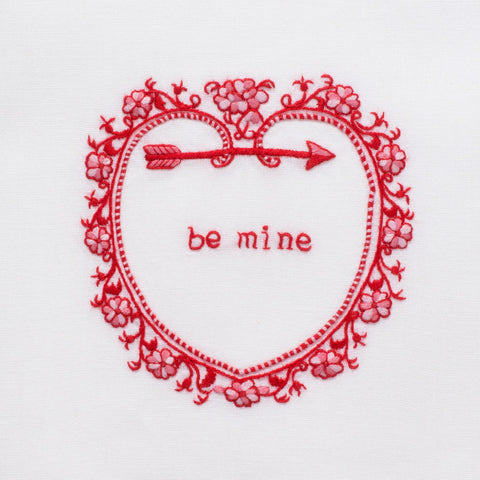 Be Mine<br>Hand Towel - White Cotton
