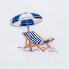Beach Chair Modern<br>Hand Towel - White Cotton