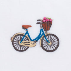 Bicycle<br>Hand Towel - White Cotton