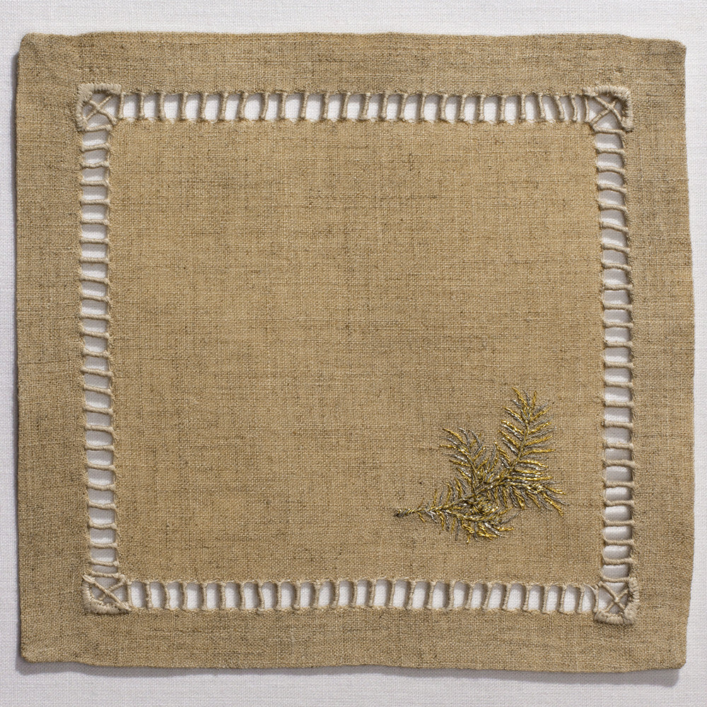 Bough Glitter<br>Cocktail Set - Natural Linen<br>+50 In Stock