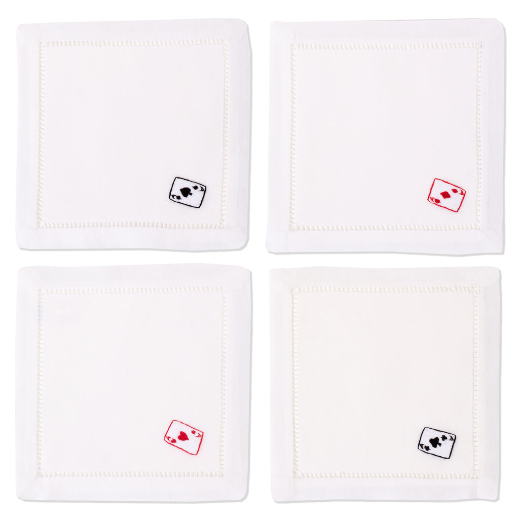 Cards<br>Cocktail Mixed Set - White Cotton
