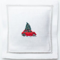 Christmas Tree Car<br>Sachet - White Linen