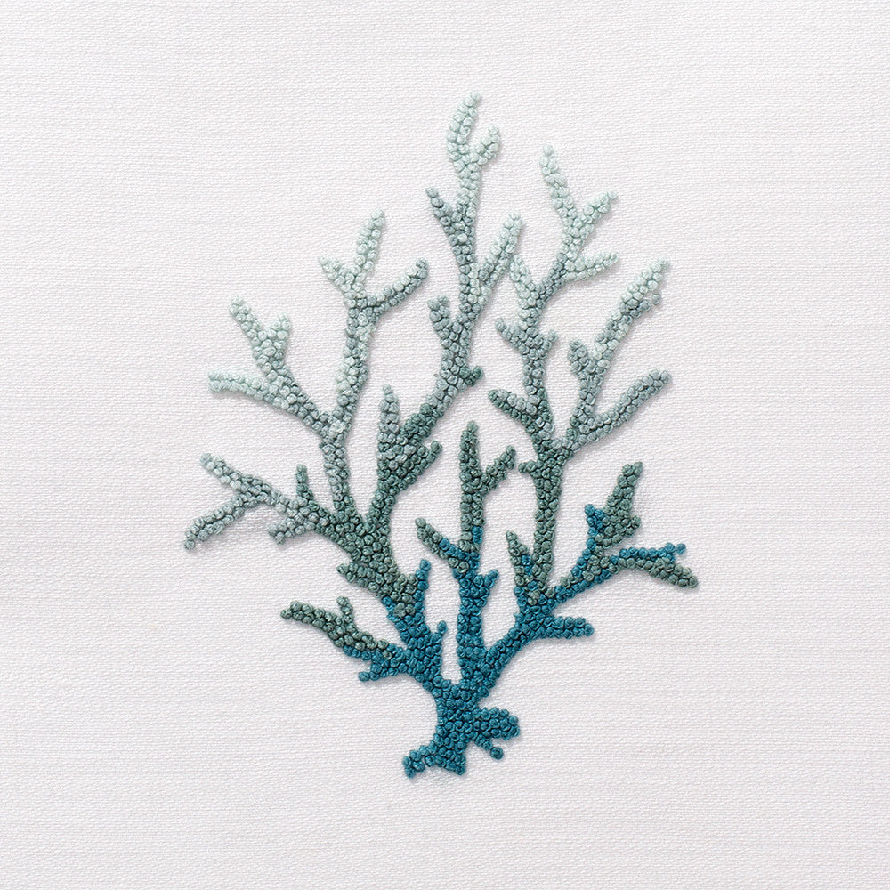 Coral Knot Blue<br>Everyday Towel - White Cotton