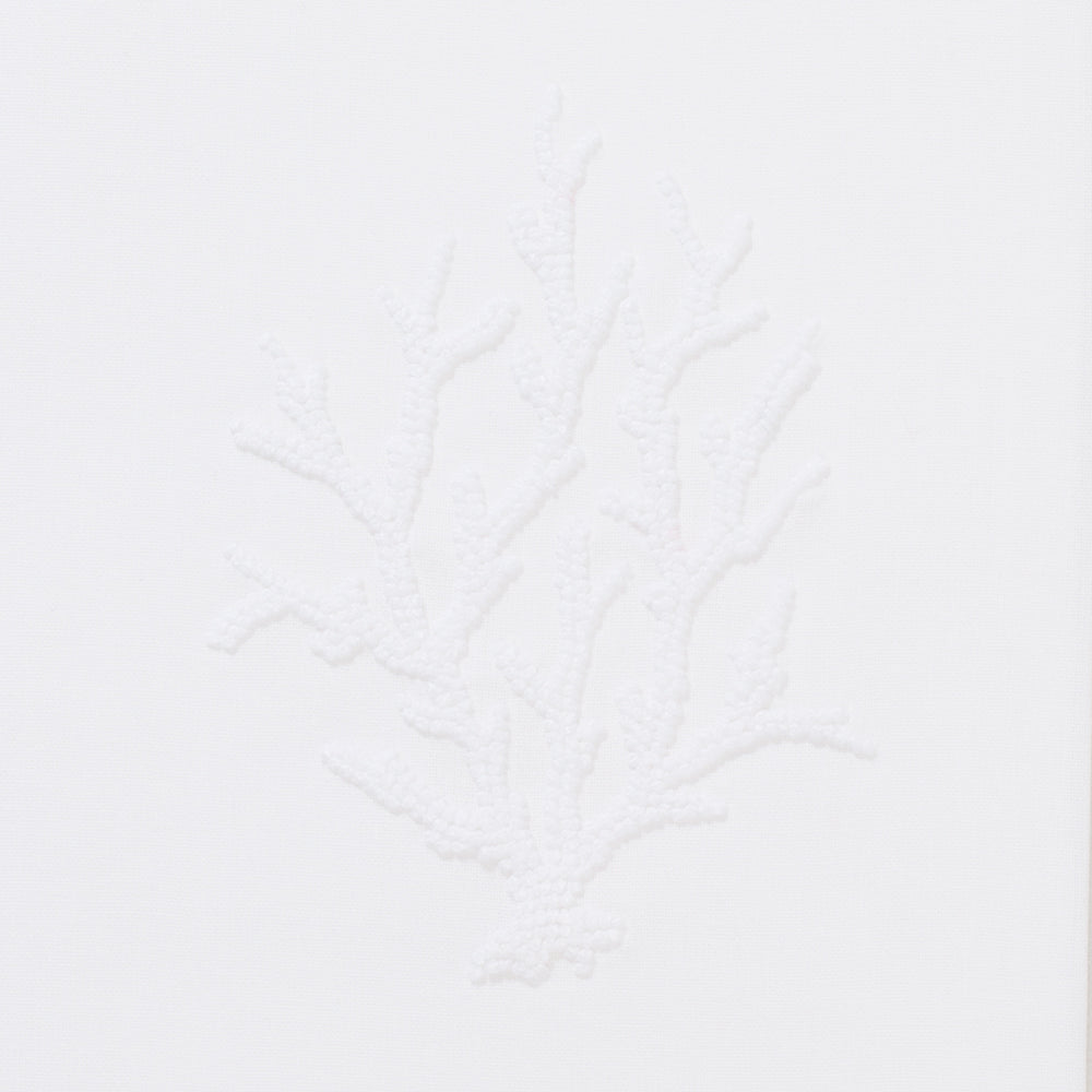 Coral Knot White<br>Hand Towel - White Cotton