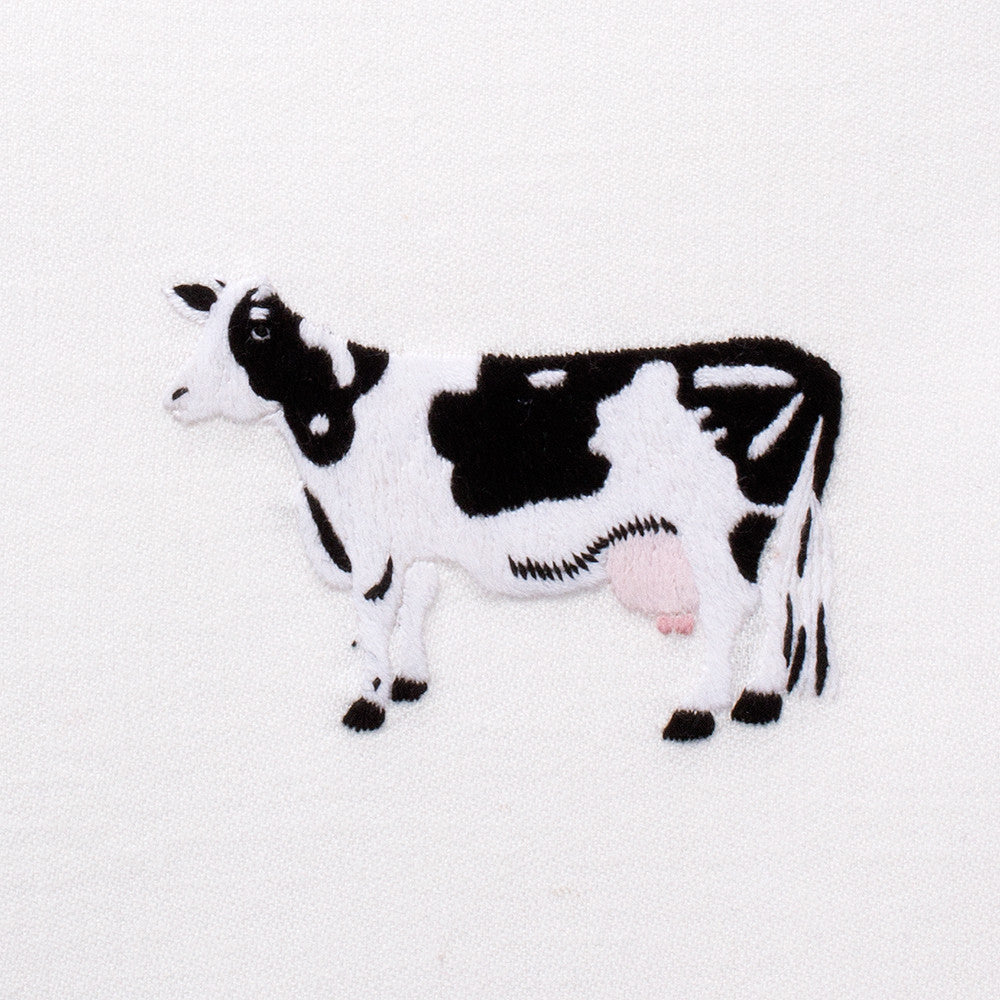 Cow<br>Everyday Towel - White Cotton