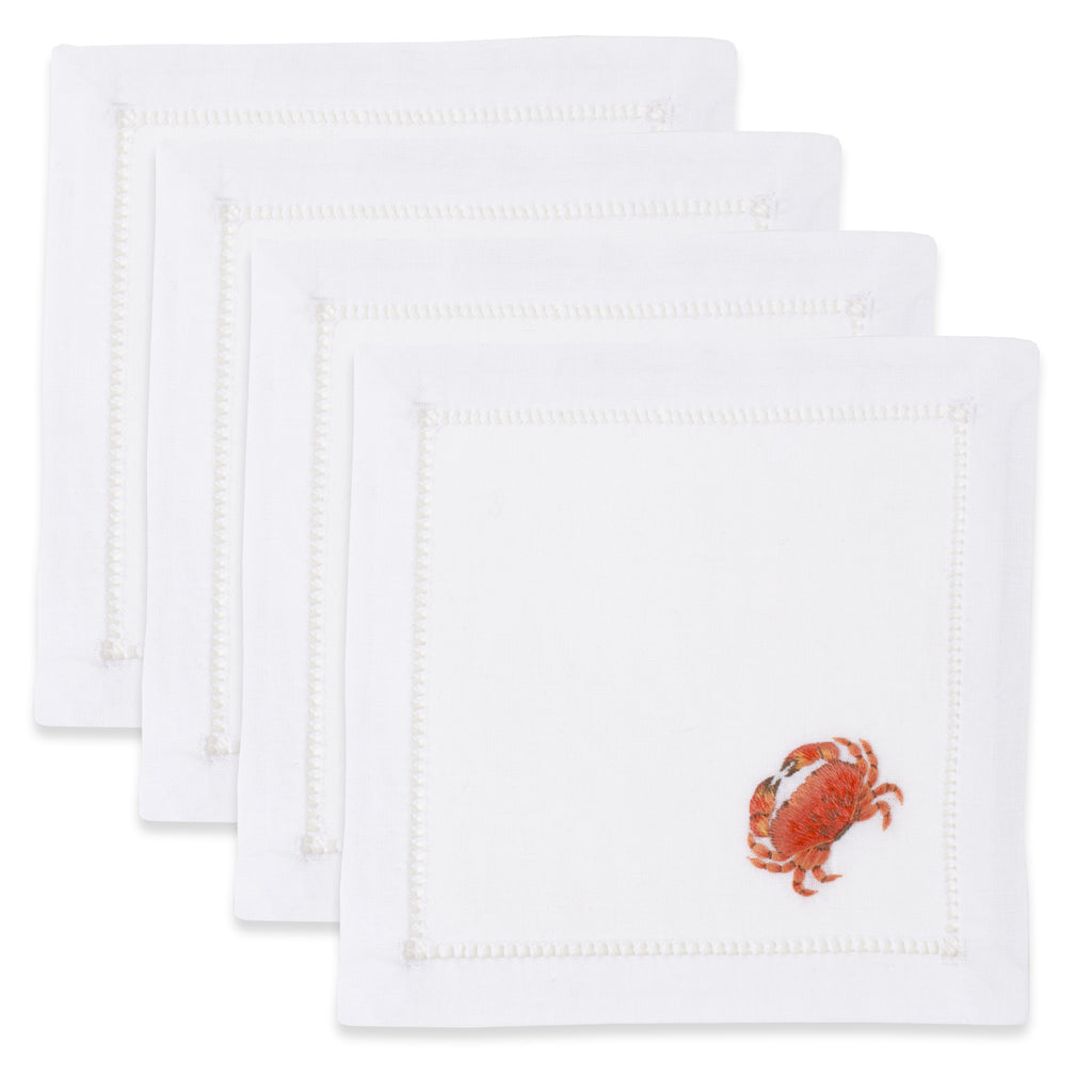 Crab Modern<br>Cocktail Set - White Cotton