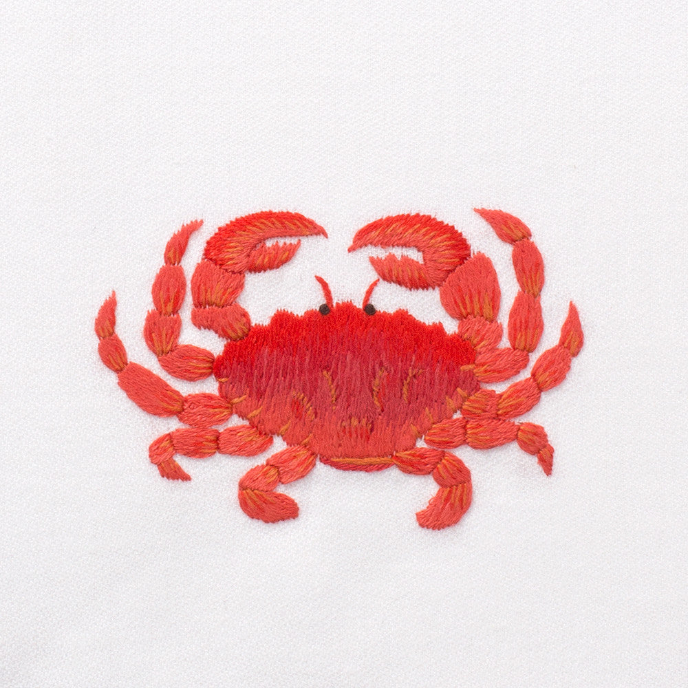 Crab Red<br>Everyday Towel - White Cotton