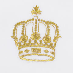 Crown Gold<br>Hand Towel - White Cotton