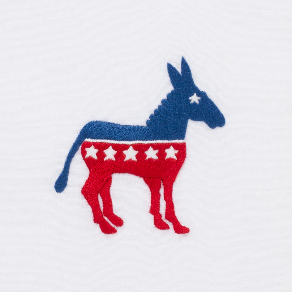 Democratic Donkey<br>Hand Towel - White Cotton