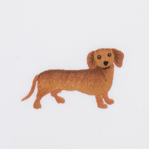 Dog Dachshund<br>Hand Towel - White Cotton