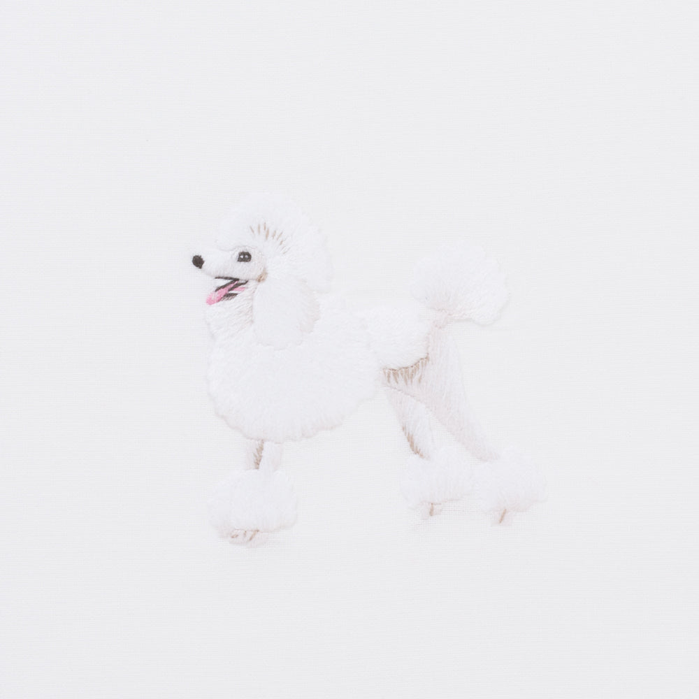 Dog Poodle<br>Hand Towel - White Cotton