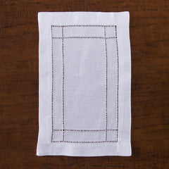Doppio Estate<br>Cocktail Napkin - White Linen