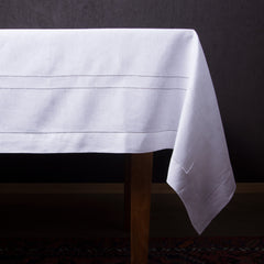 Doppio Estate<br>Tablecloth - White Linen