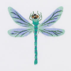 Dragonfly Pastel<br>Hand Towel - White Cotton