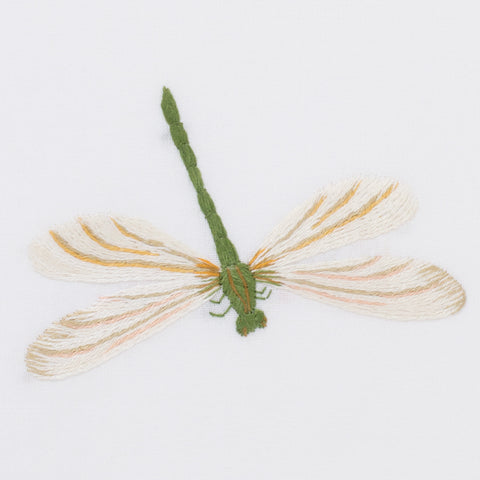 Dragonfly<br>Hand Towel - White Cotton