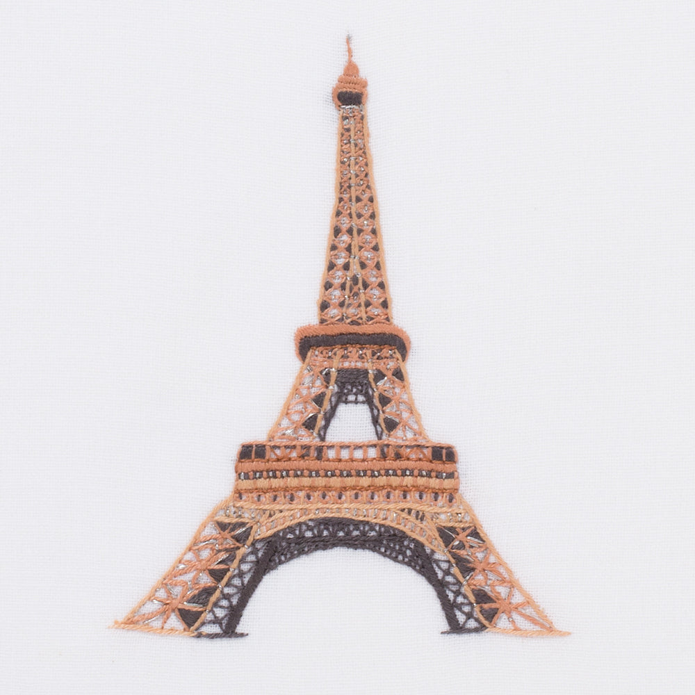 Eiffel Tower<br>Hand Towel - White Cotton