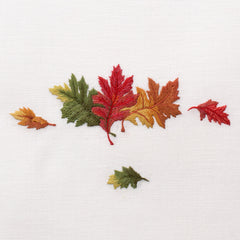 Fall Leaves<br>Everyday Towel - White Cotton