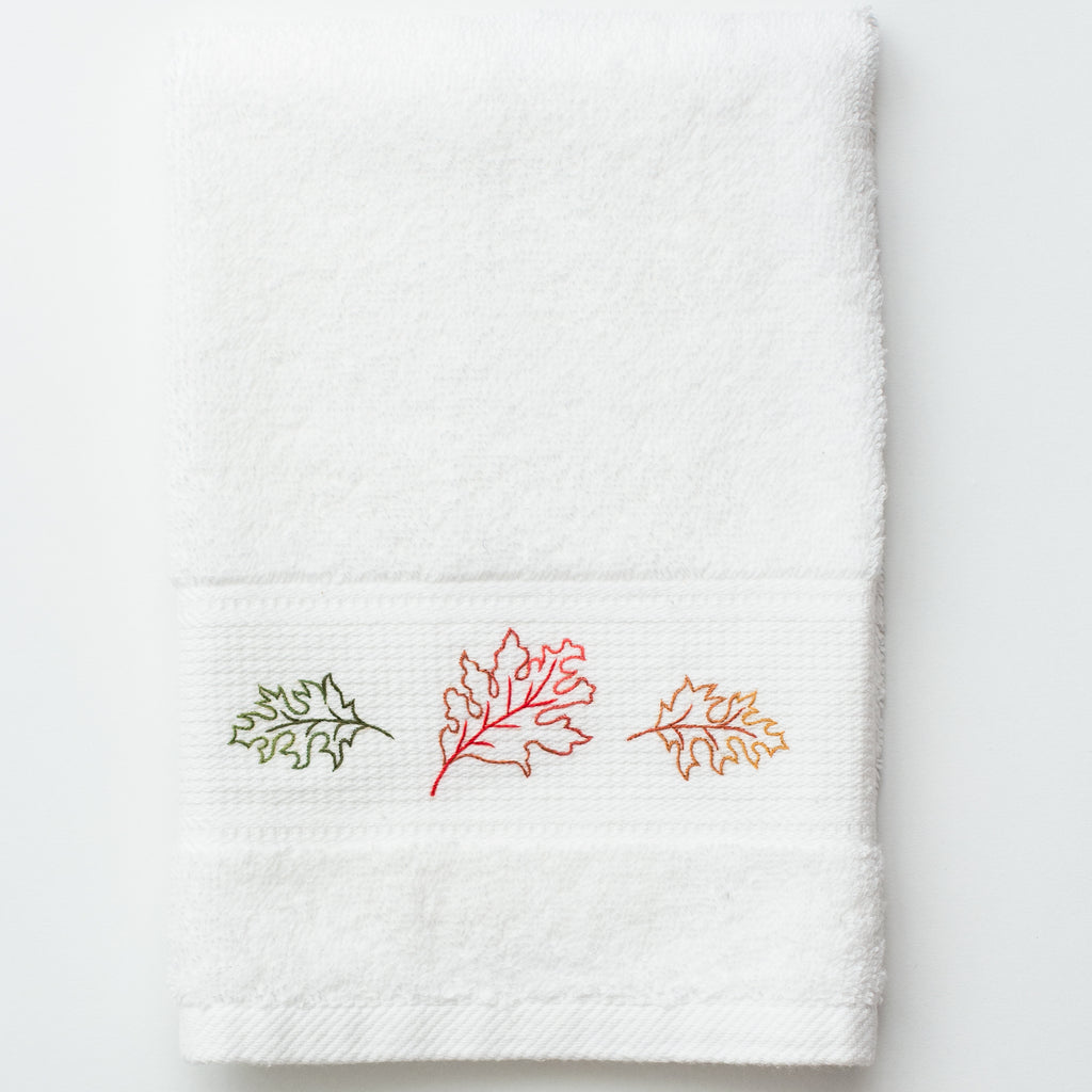 Fall Leaves<br>Terry Guest Towel