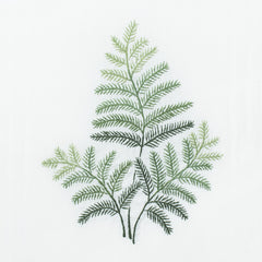 Fern<br>Hand Towel - White Cotton