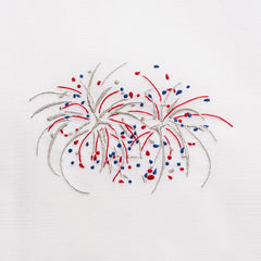 Happy 4th Fireworks<br>Everyday Towel - White Cotton