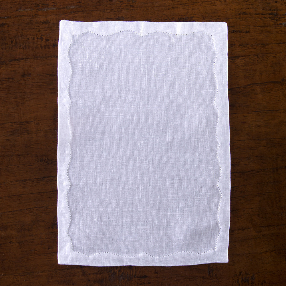 Franc&ecirc;s Estate<br>Cocktail Napkin - White Linen
