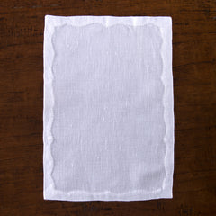 Francês Estate<br>Cocktail Napkin - White Linen